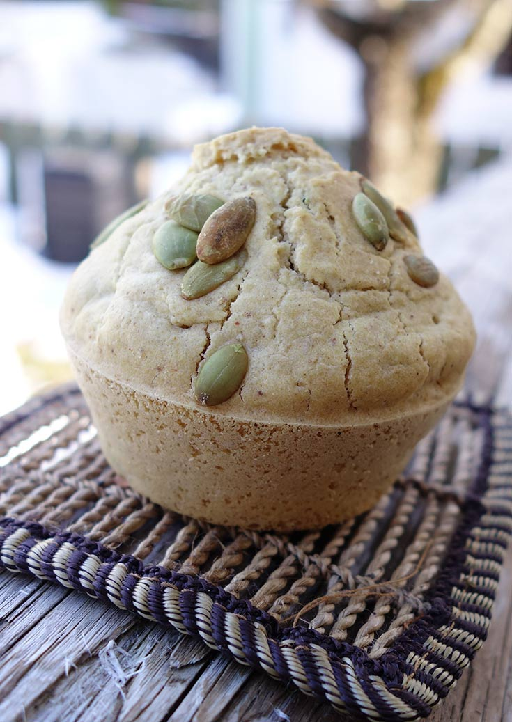 Gluten-free muffins with Pumpkin Seeds