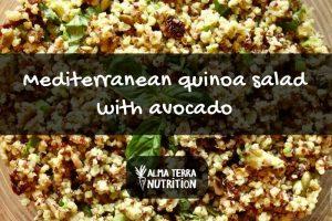 Mediterranean Quinoa Salad with Avocado