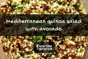 Mediterranean Quinoa Salad with Avocado