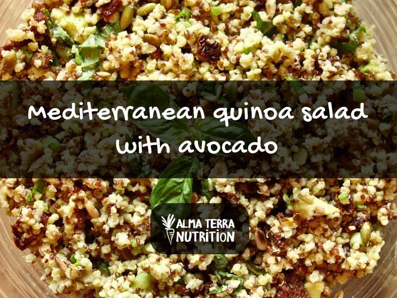Mediterranean Quinoa Salad Recipe with Avocado